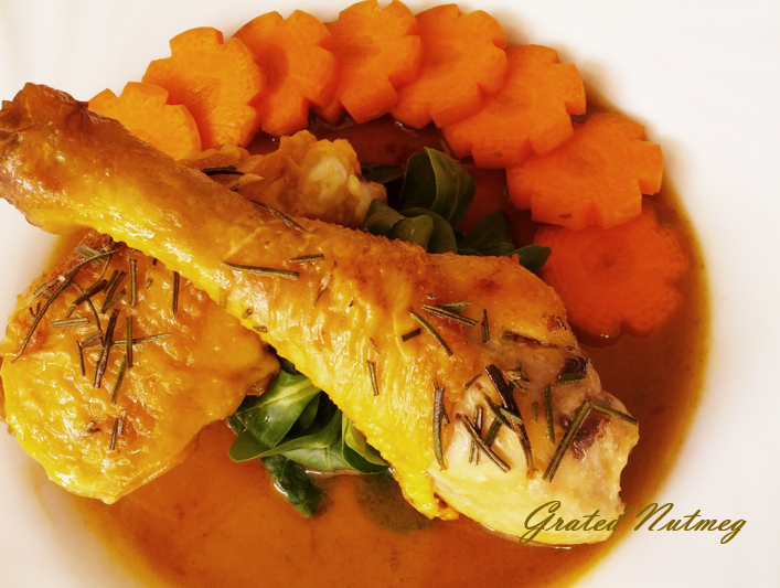 Rosemary Chicken with Steamed Carrots