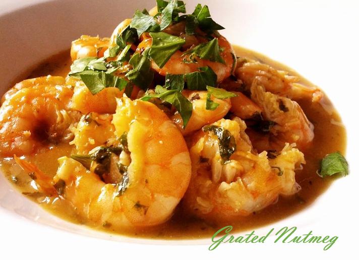 Shrimp in Wine and Garlic Sauce