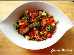Basil Beef Fried Rice