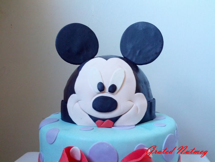 Mickey Mouse Cake Grated Nutmeg