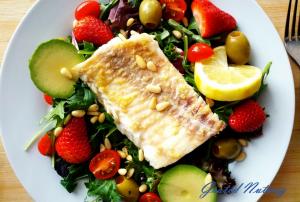 Cod on Salad