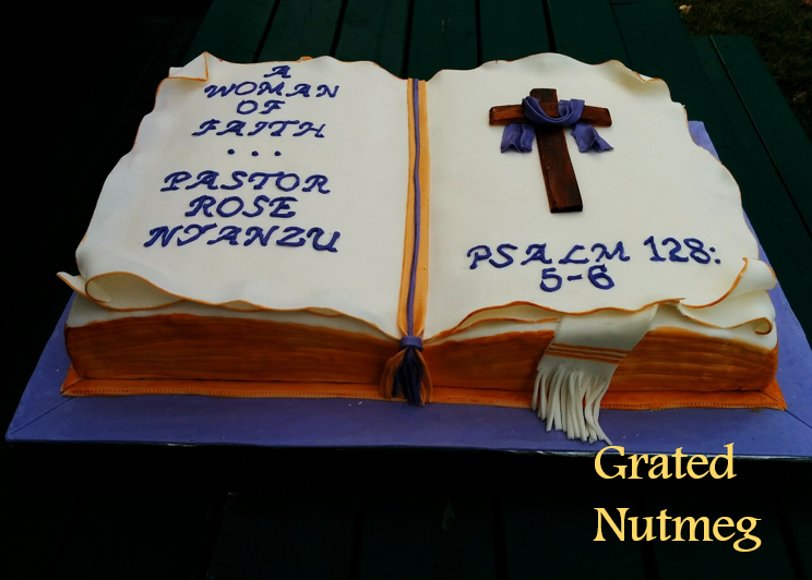 Open Bible Cake Grated Nutmeg