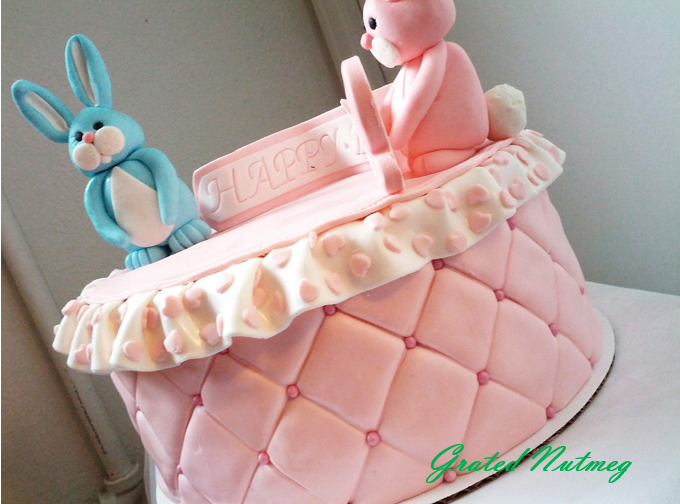 Quilted Bunny Cake Grated Nutmeg