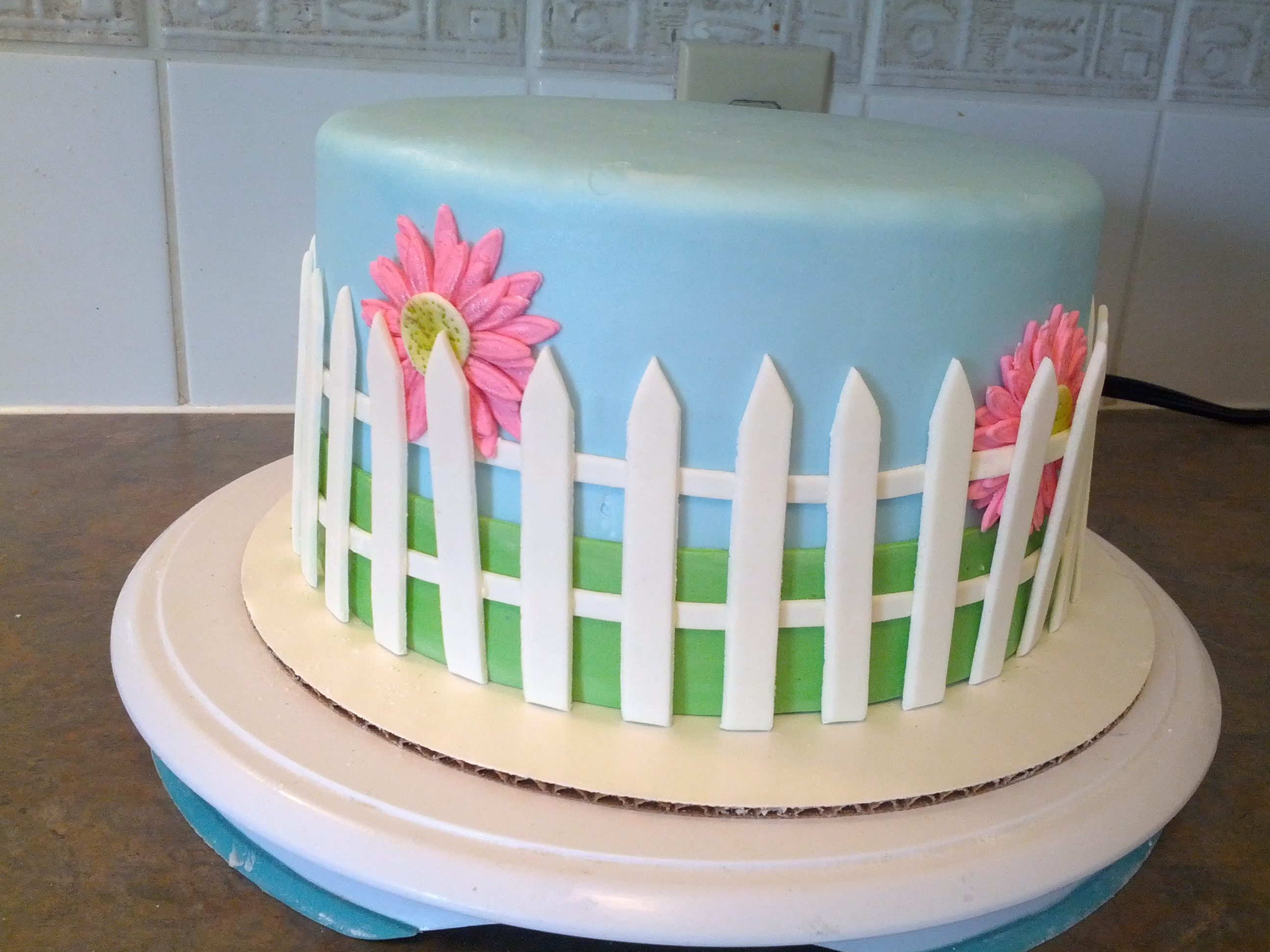 Picket Fence Template For Cakes