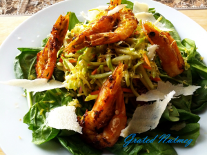 shrimp slaw salad x