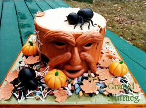 halloween tree trunk cake