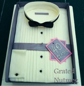 tuxedo shirt cake