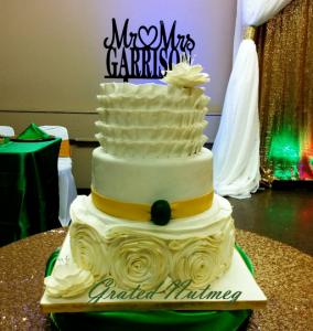 3 Tier Wedding Cake made with French Vanilla Sponge Cake