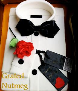 white shirt cake