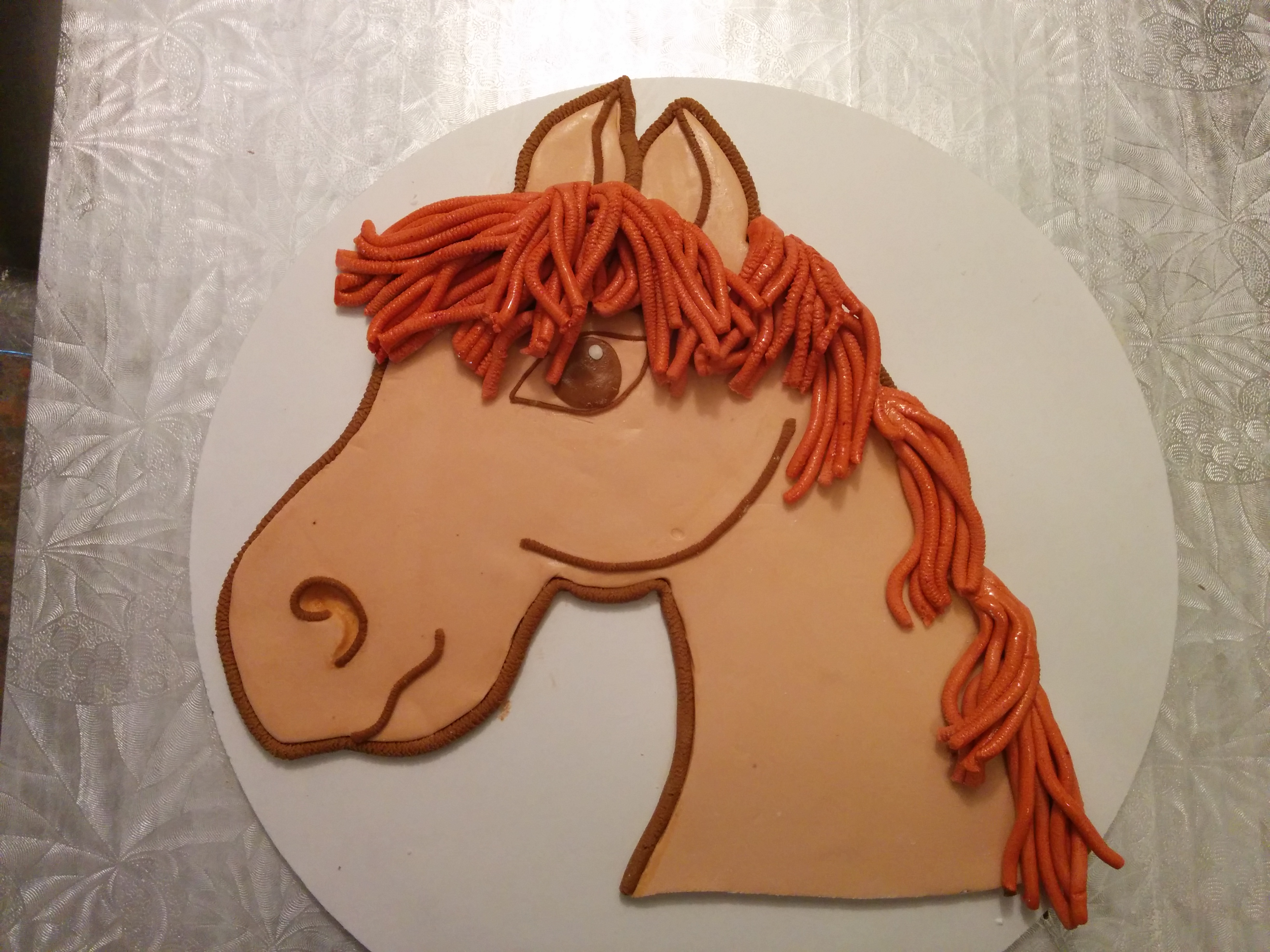 Fondant Horse Head Topper For Cowgirl Cake Tutorial Grated Nutmeg