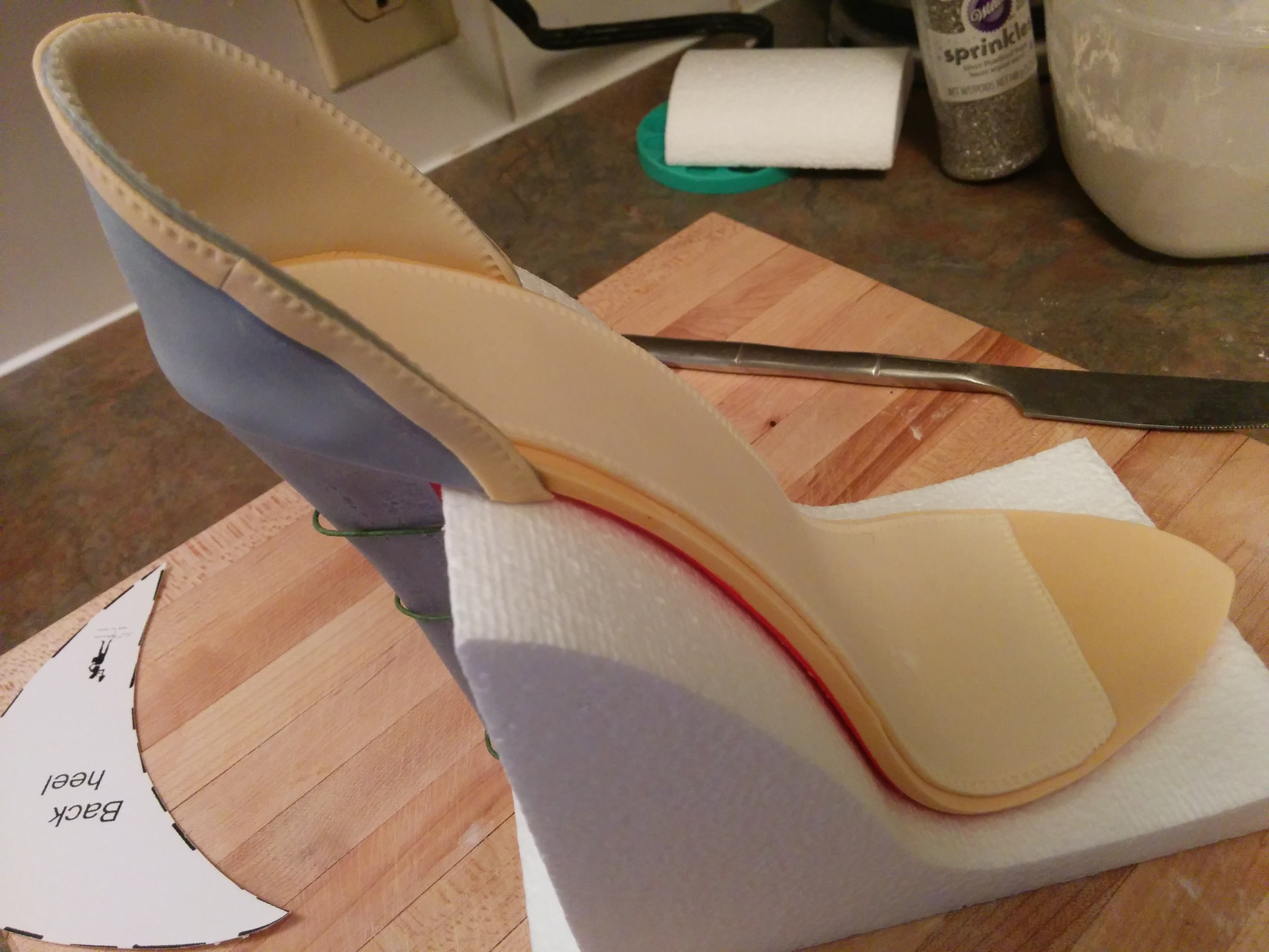 fondant shoe tutorial