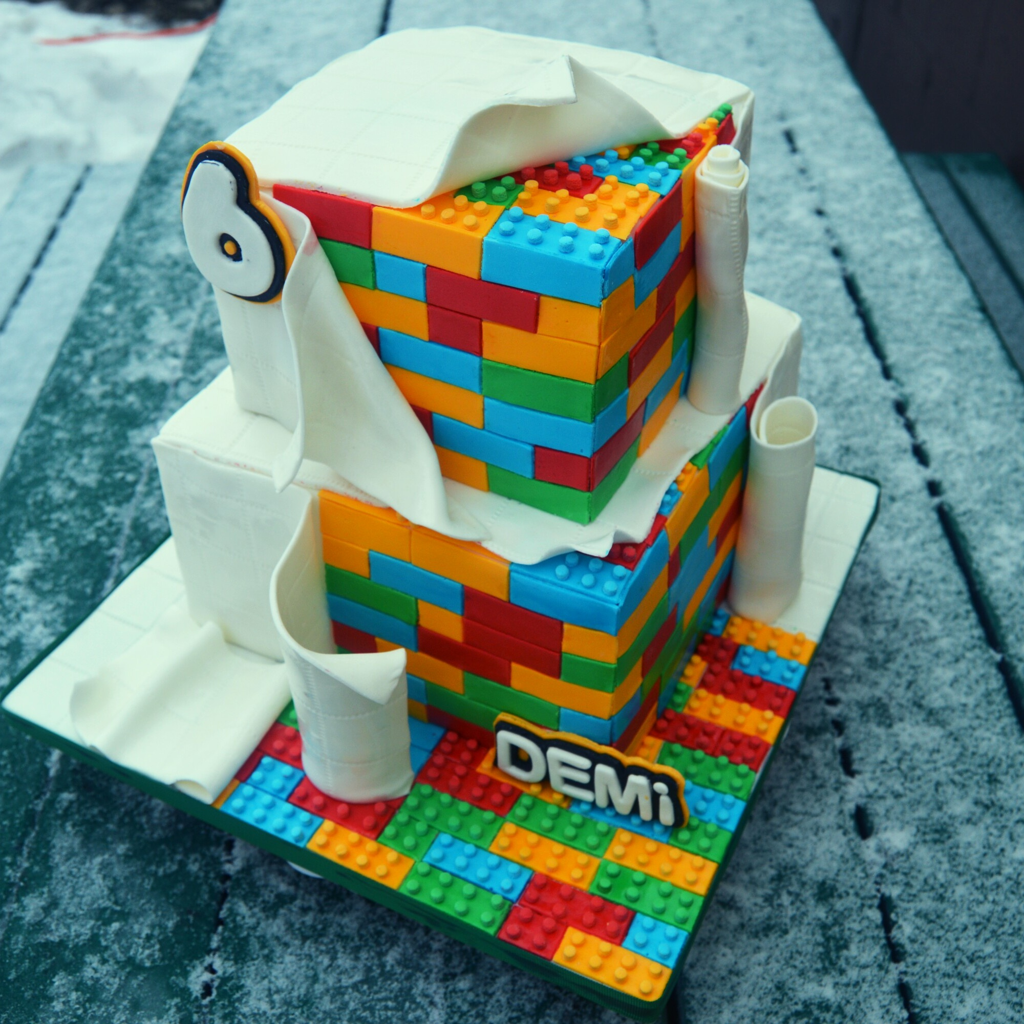 Lego Blocks Cake Design : The Making of a Lego Cake Grated Nutmeg