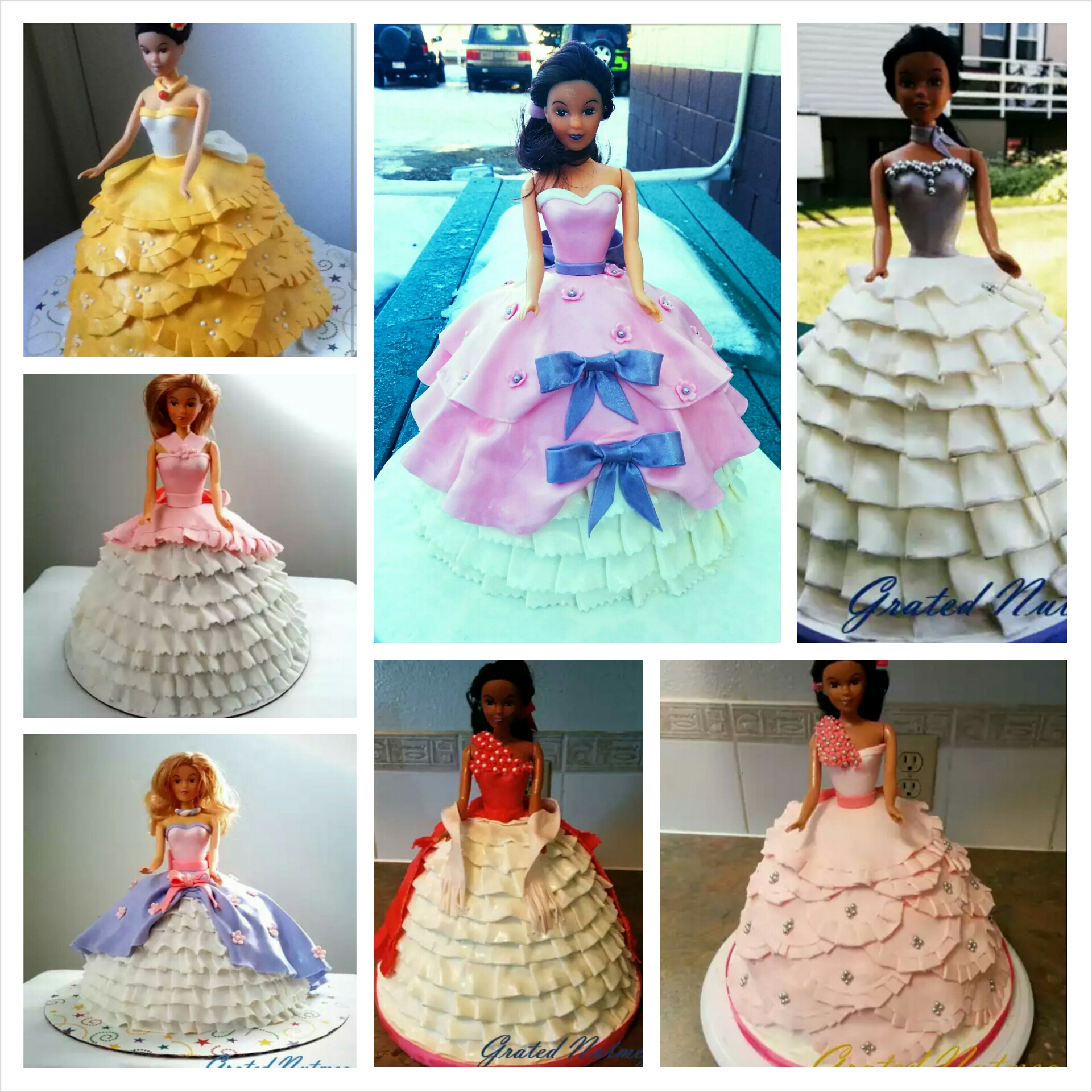 How to Make Princess Doll Cakes – Grated Nutmeg