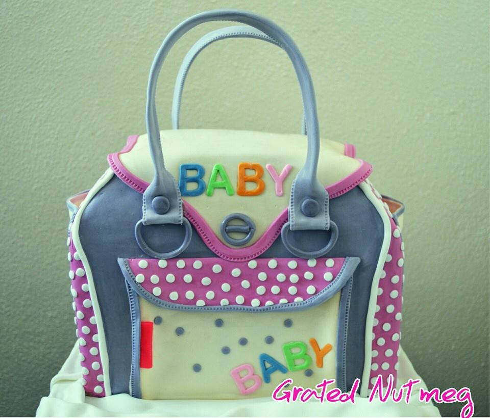 The Making Of A Diaper Bag Cake Grated Nutmeg