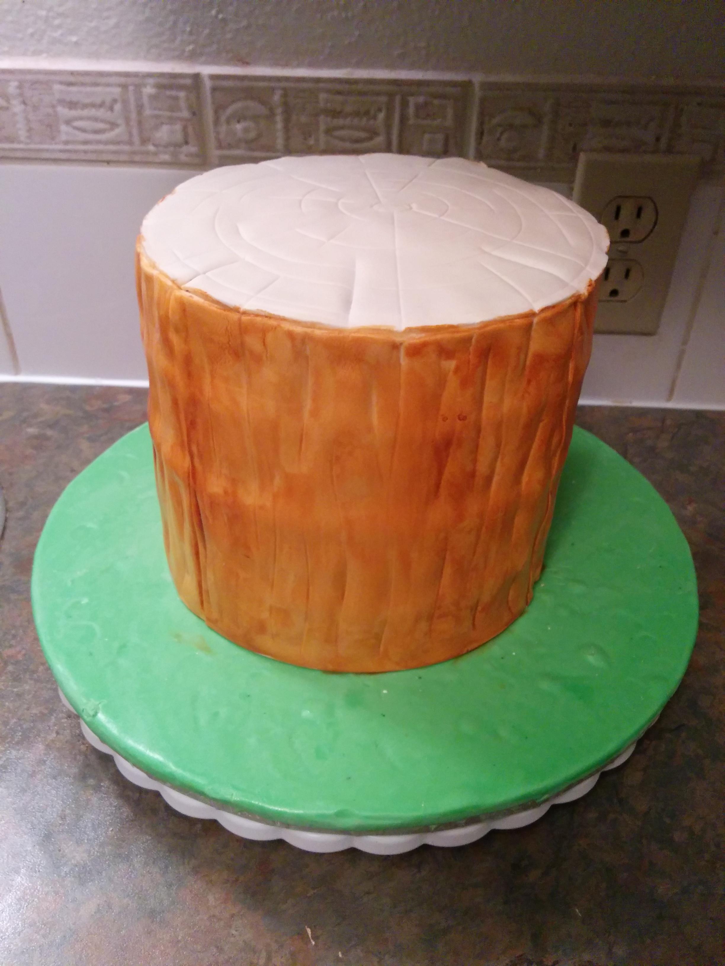 How To Make A Tree Stump Cake Grated Nutmeg