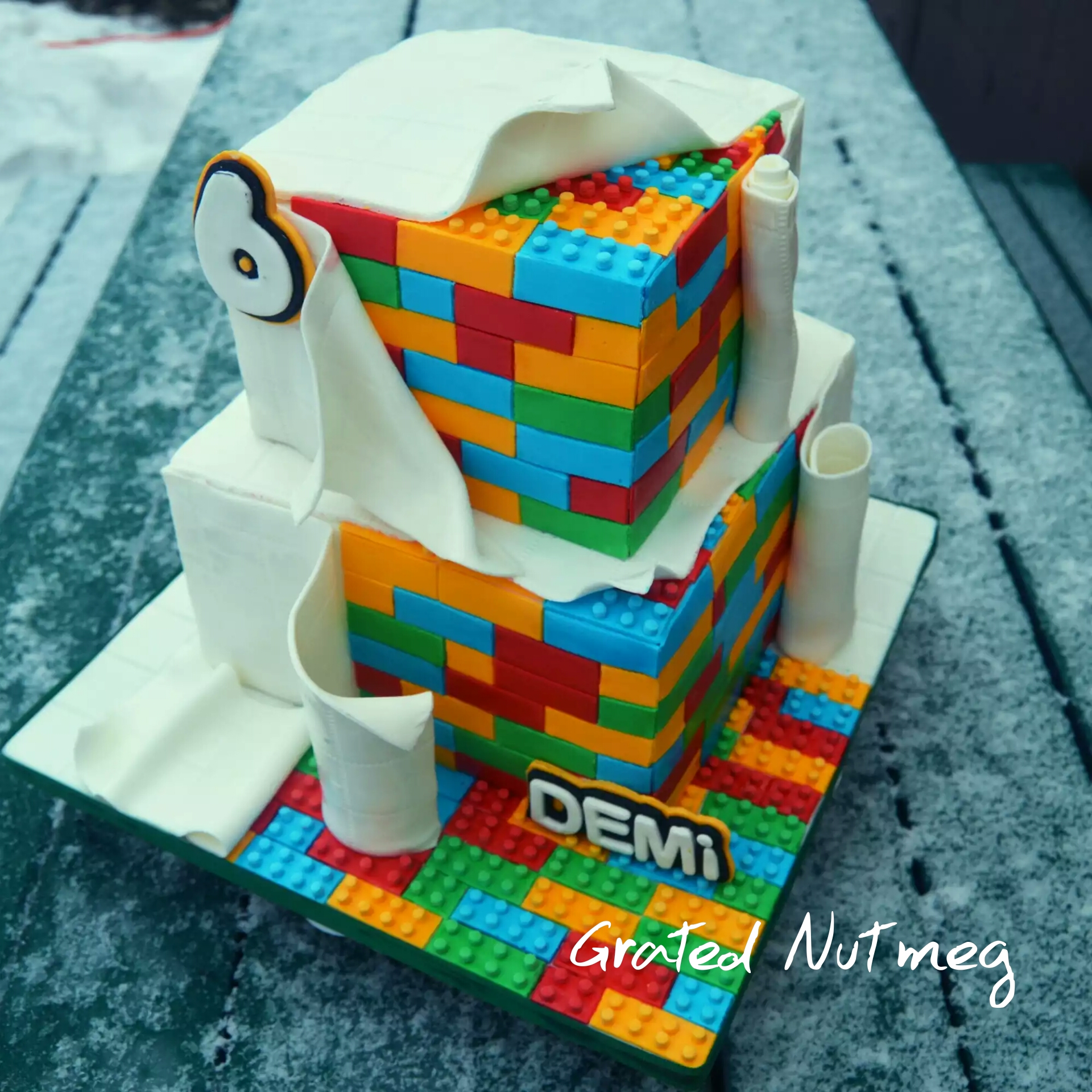 The Making of a Lego Cake – Grated Nutmeg