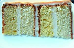White and Yellow butter cake