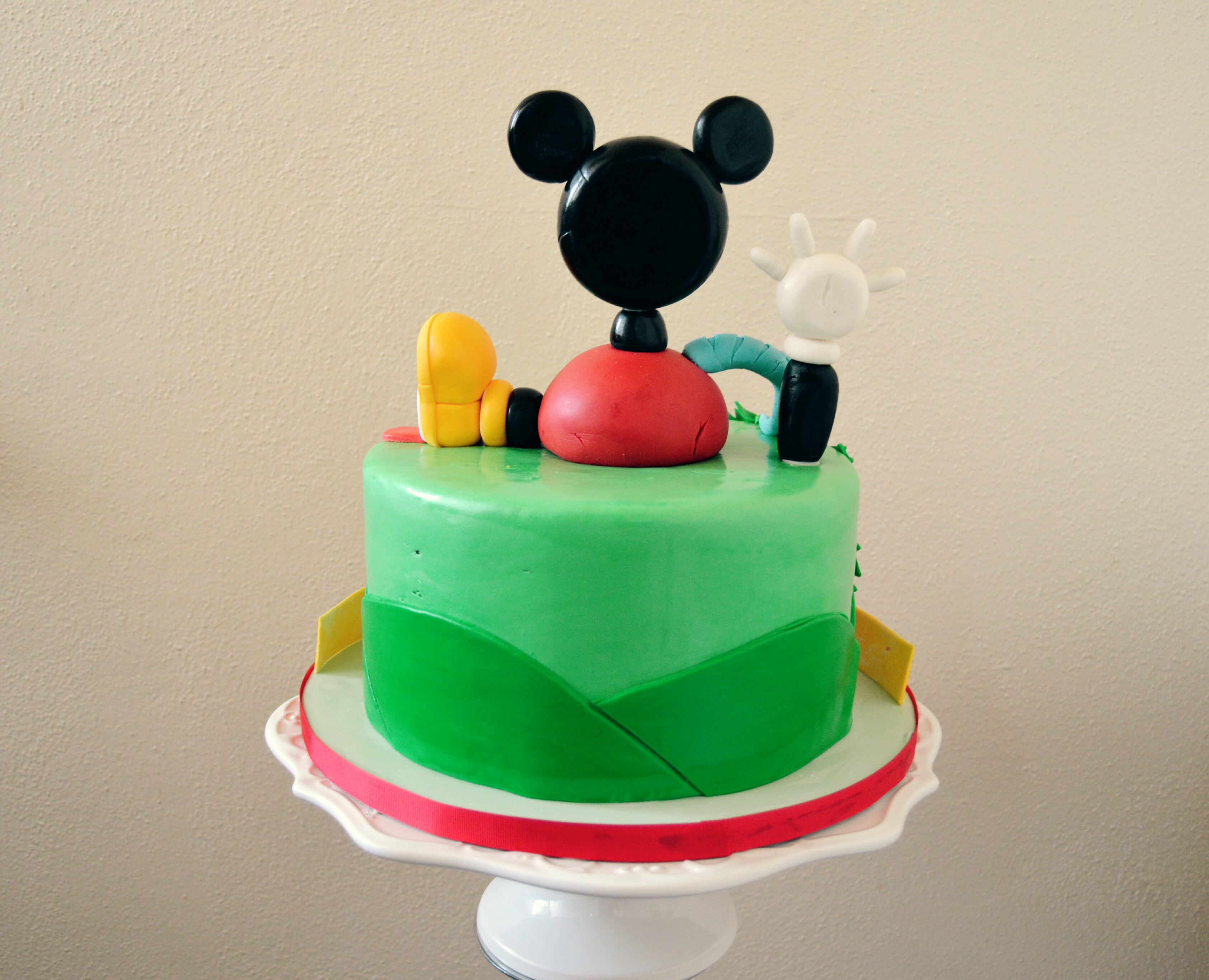 The Making of a Mickey Mouse Clubhouse Cake Grated Nutmeg