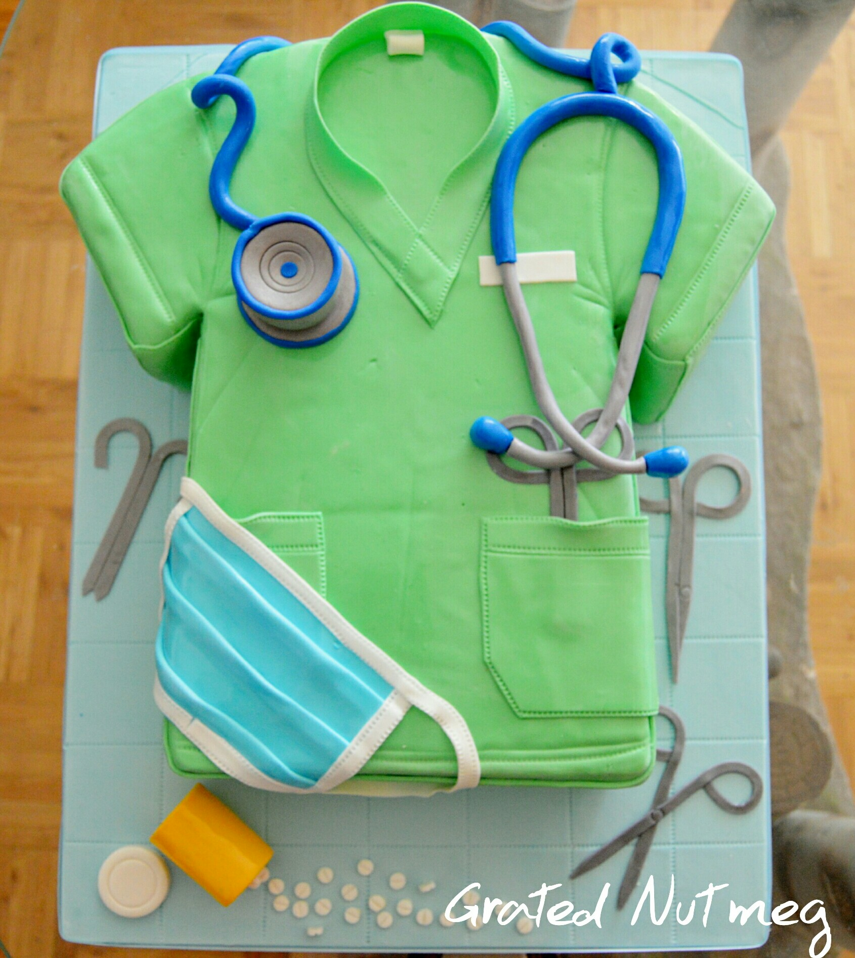 The Making Of A Surgeon Uniform Cake Grated Nutmeg