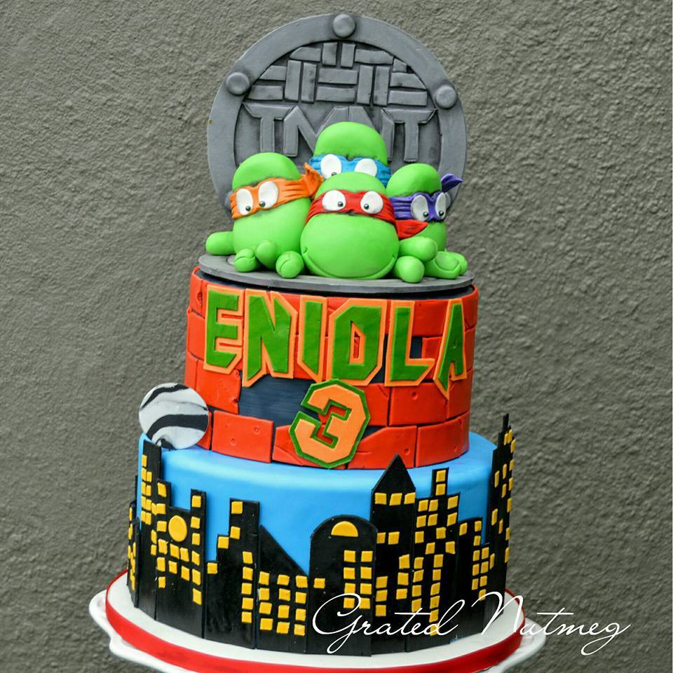 Teenage Mutant Ninja Turtles (TMNT) Cake – Grated Nutmeg