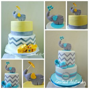 In This Post, I Will Be Sharing My Method Of Making Chevron Baby Shower  Cakes With Flat Elephant Toppers. This Is A Common Cake Design Used For Baby  Showers ...