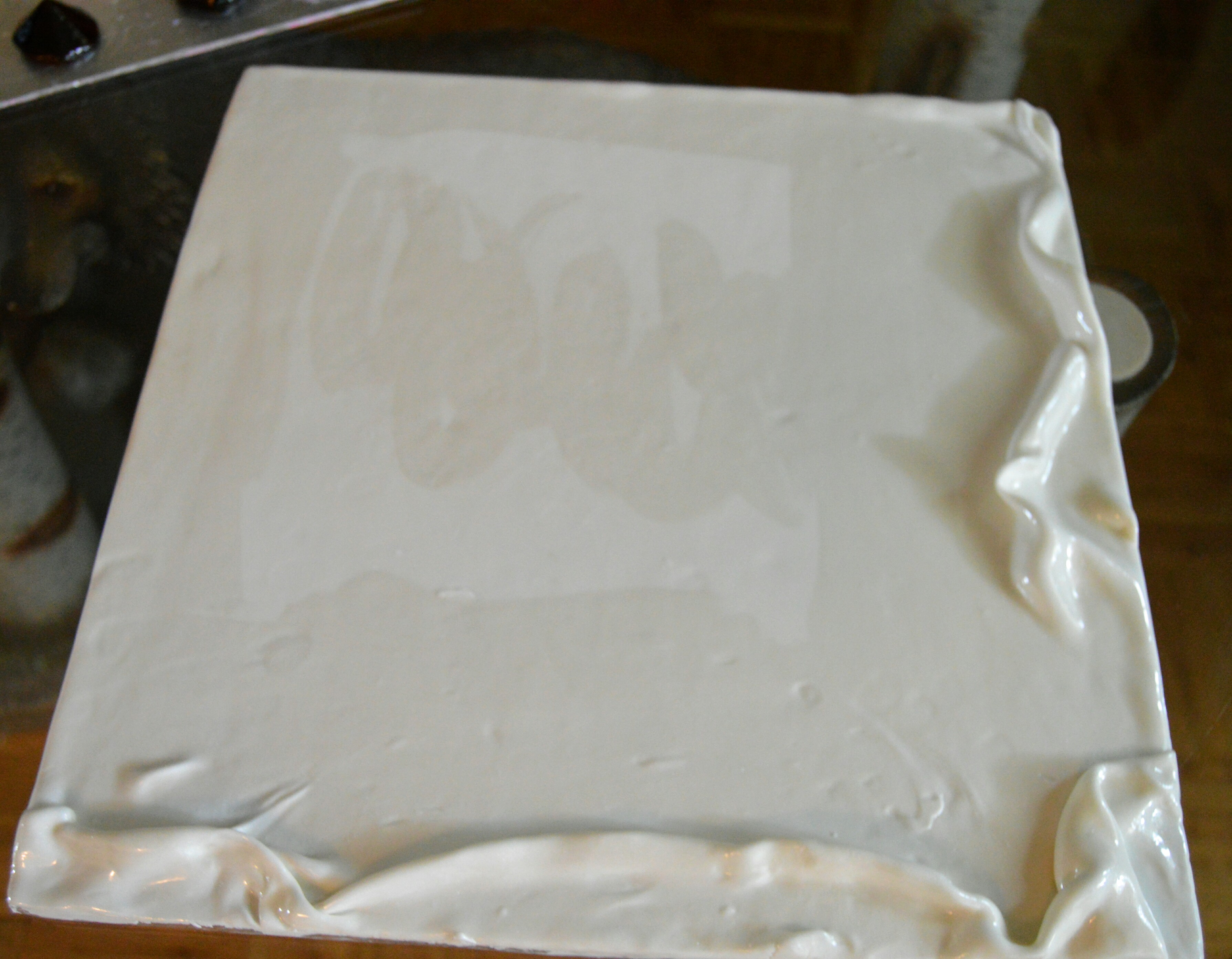 How To Cover A Square Cake With Fondant Panels