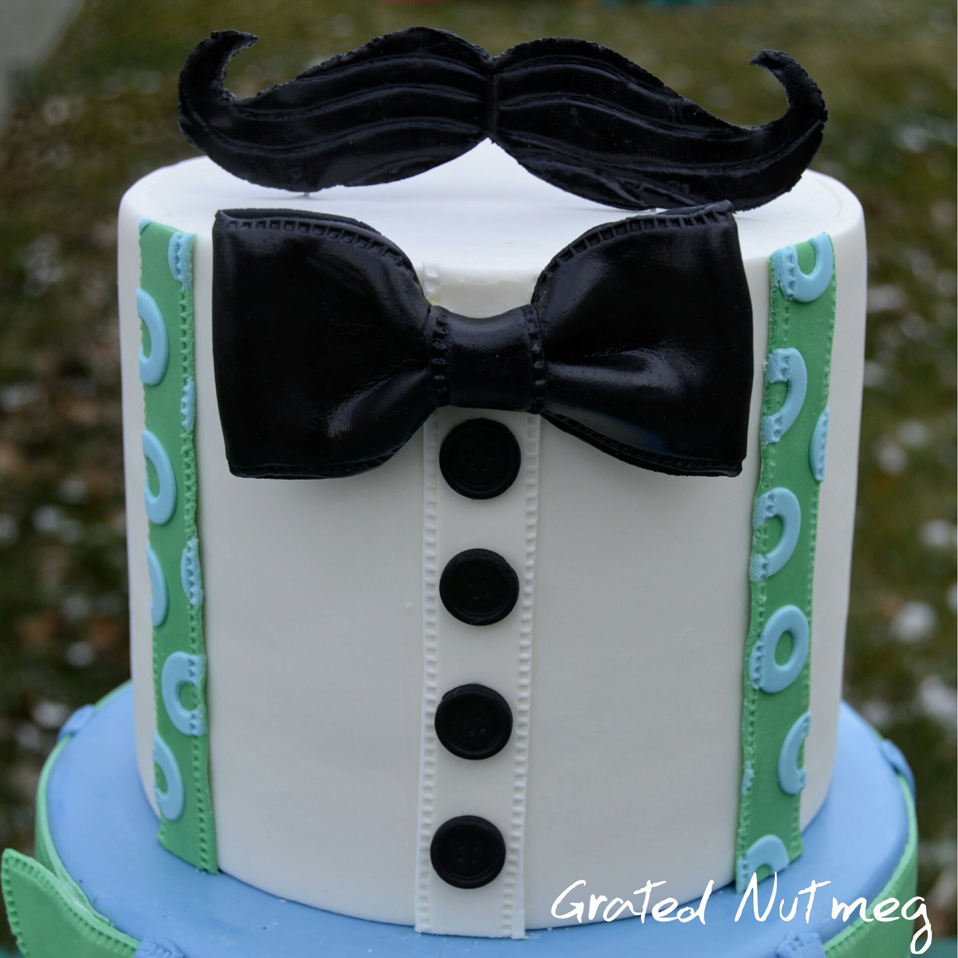 Fondant Mustache Topper Tutorial Grated Nutmeg