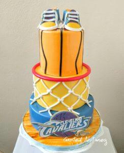 How To Make Basketball Hoop Cake Tiers Grated Nutmeg