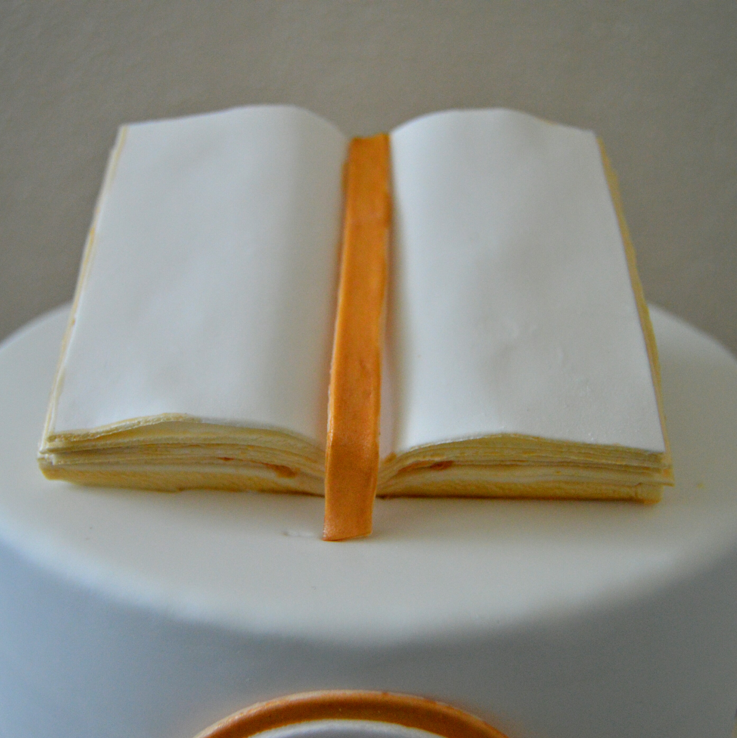 Fondant Open Bible Book Topper Tutorial Grated Nutmeg