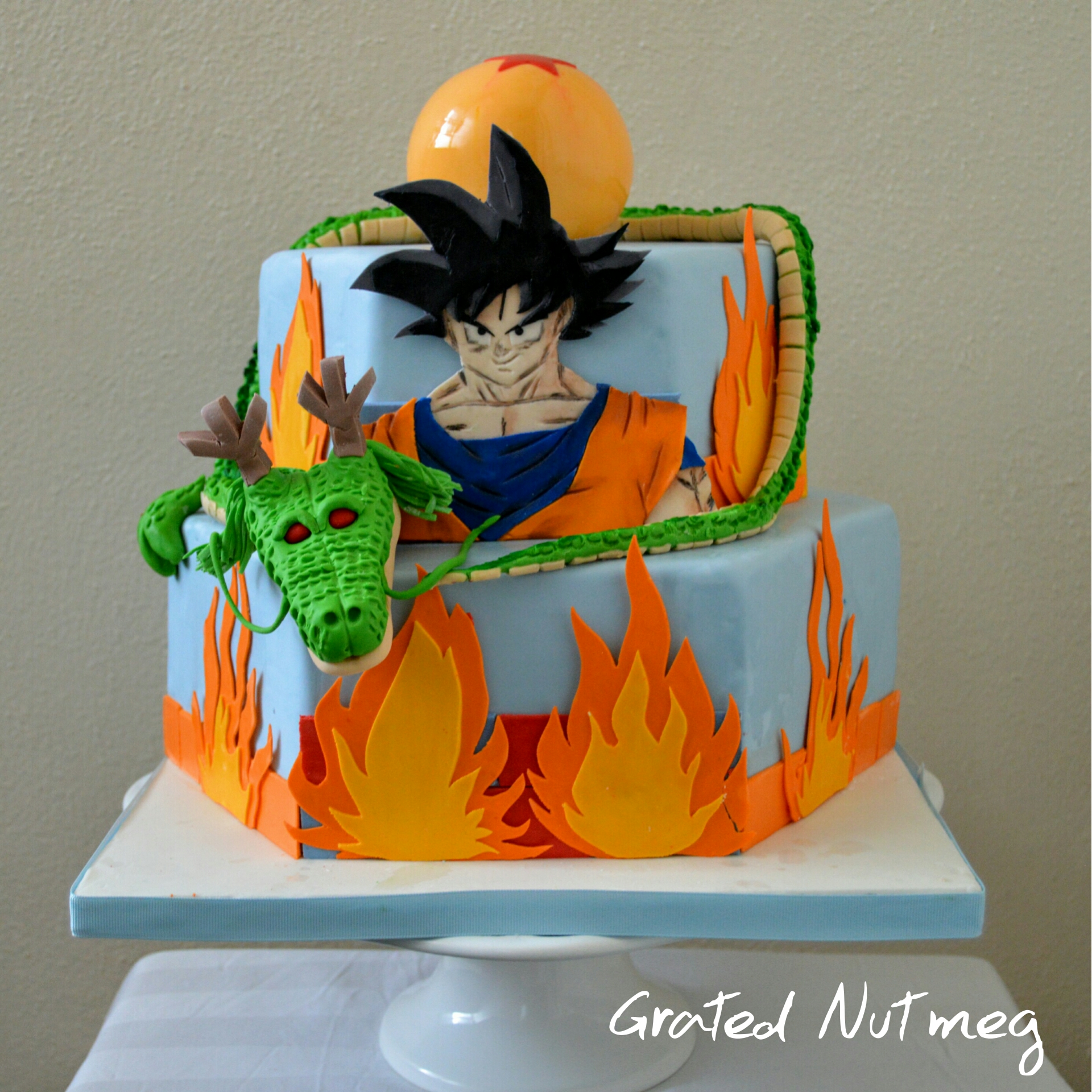 Dragon Ball Z Cake Grated Nutmeg