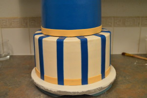 The Making Of A Gold And Royal Blue Prince Cake Grated Nutmeg