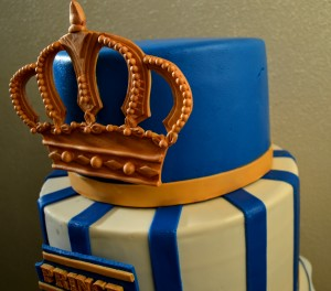 Gold And Royal Blue Prince Cake Grated Nutmeg