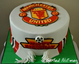 The Making of a Manchester United Cake Grated Nutmeg