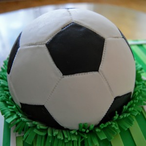 How to make a 3d soccer ball cake