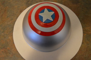Fondant Captain America Shield Tutorial Grated Nutmeg
