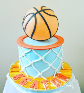 How to Make Basketball Hoop Cake Tiers Grated Nutmeg