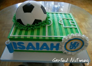 The Making of a Football Cake Grated Nutmeg