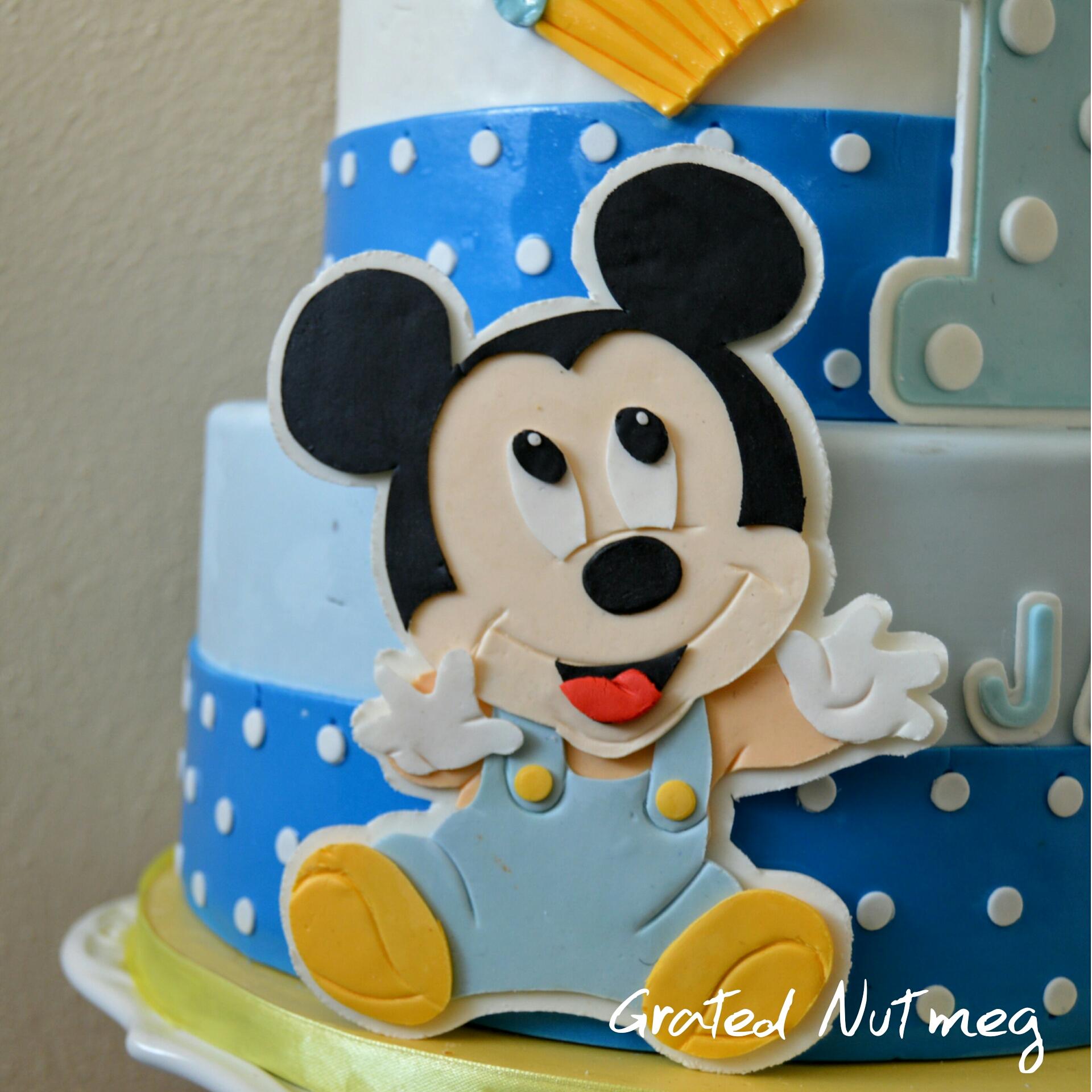 Fondant Mickey Mouse Tutorial Grated Nutmeg
