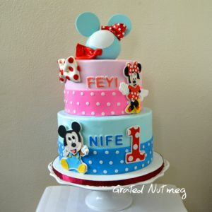 Fondant Mickey Mouse Tutorial Grated Nutmeg