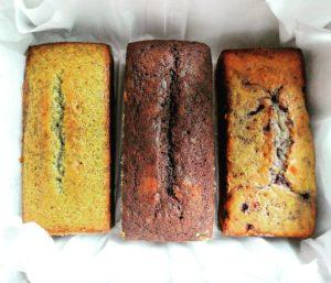 Lemon Poppy Seed Loaf, Mocha Rum Loaf & Lemon Blueberry Loaf Trio