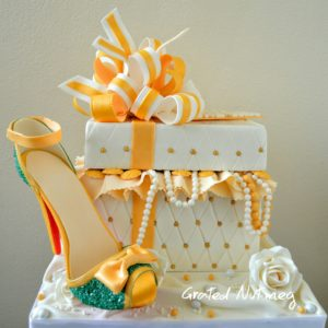 Jewelry gift box cakes grated nutmeg box negle Images