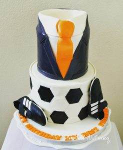 How to Make Fondant FootballSoccer Cake Tiers Grated Nutmeg