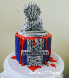 Add Red Food Color To The Paste Replicate Blood And Pour It Over Top Edge Of Cake Stick Throne