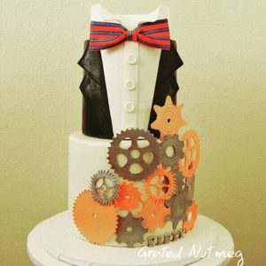 How To Make Suit Tuxedo Cake Tiers Grated Nutmeg