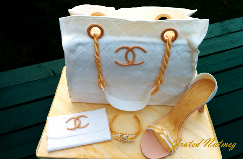 Chanel Bag Cake Grated Nutmeg