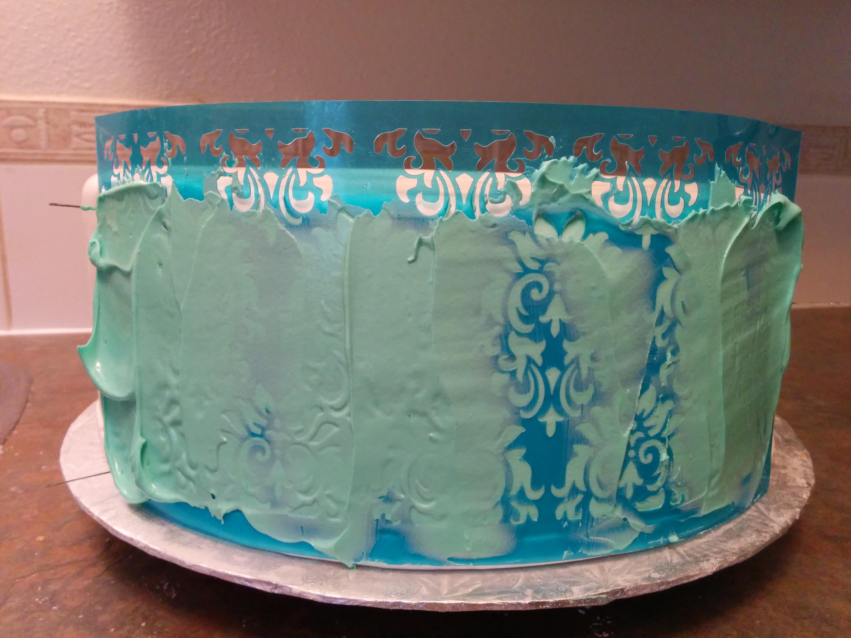 Трафарет для украшения торта