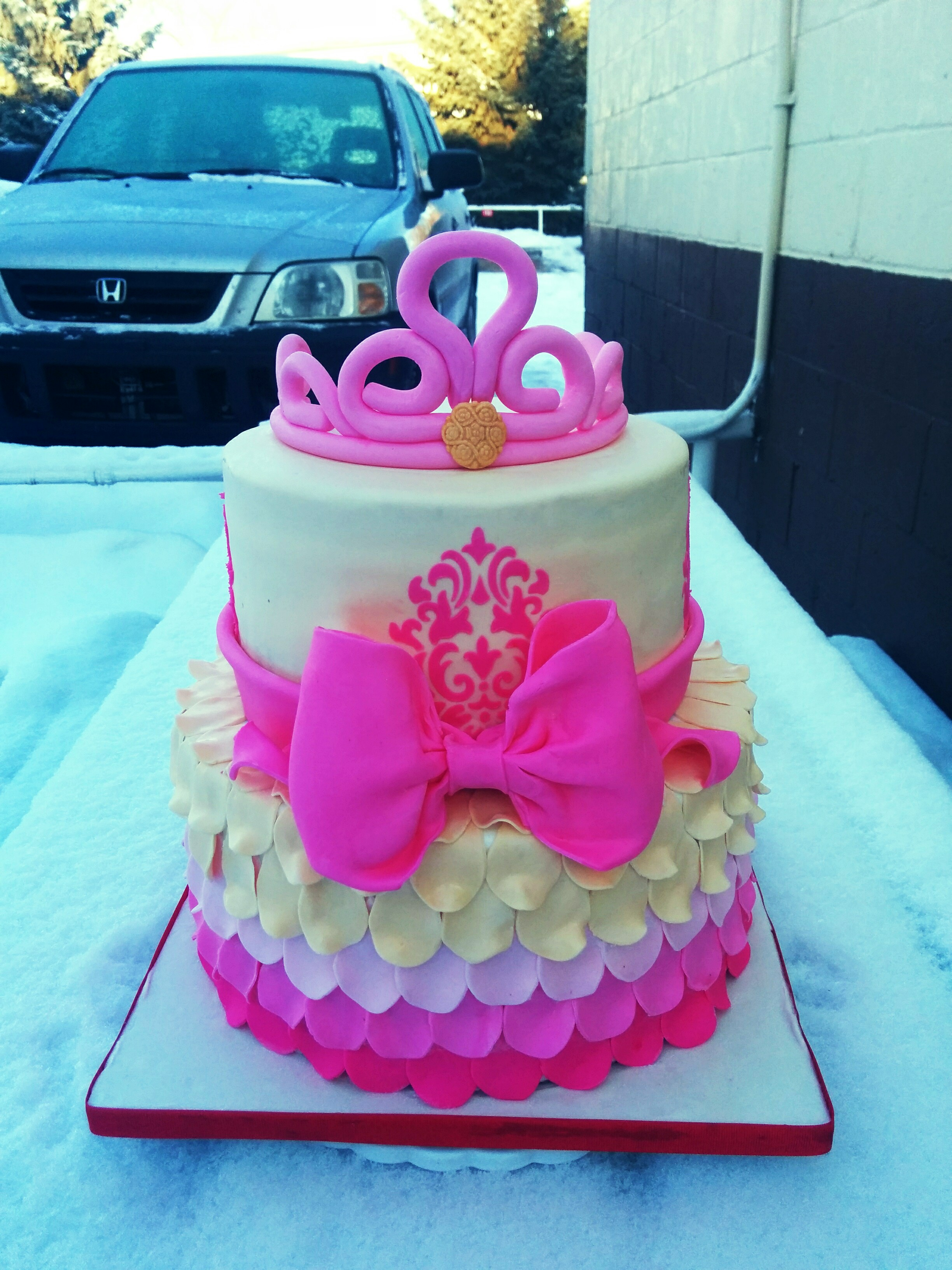 Two Tier Princess Cake Grated Nutmeg