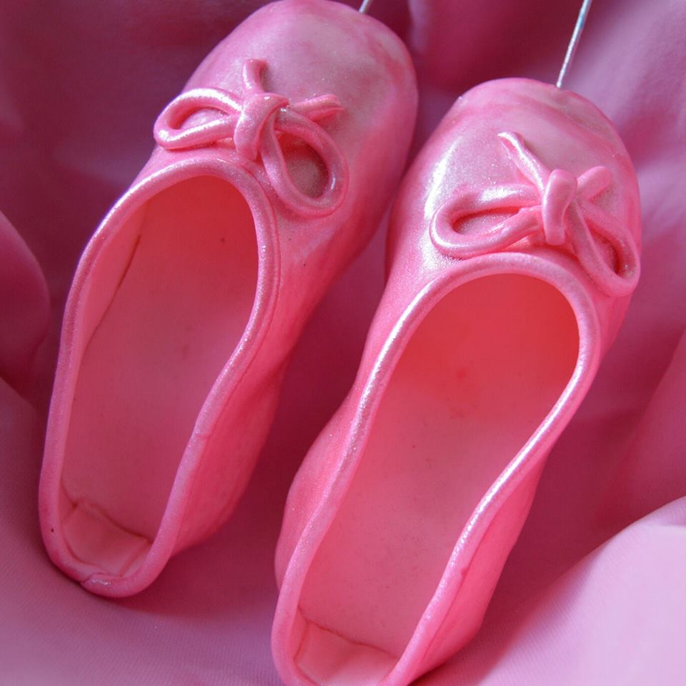 Fondant Ballerina Slippers Tutorial Grated Nutmeg
