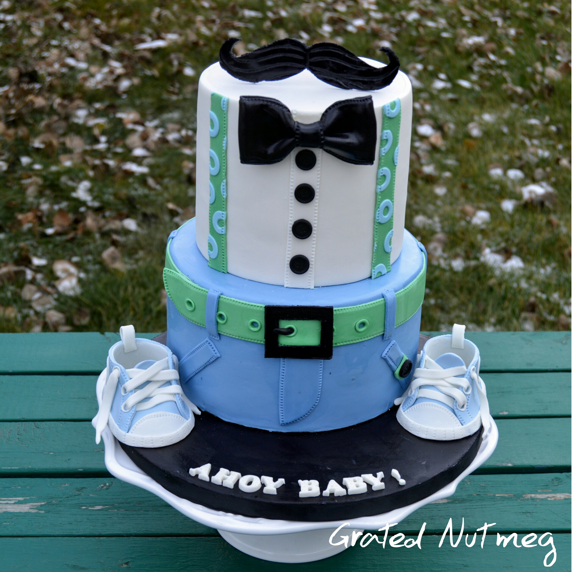 Dapper Baby Shower Cake Grated Nutmeg