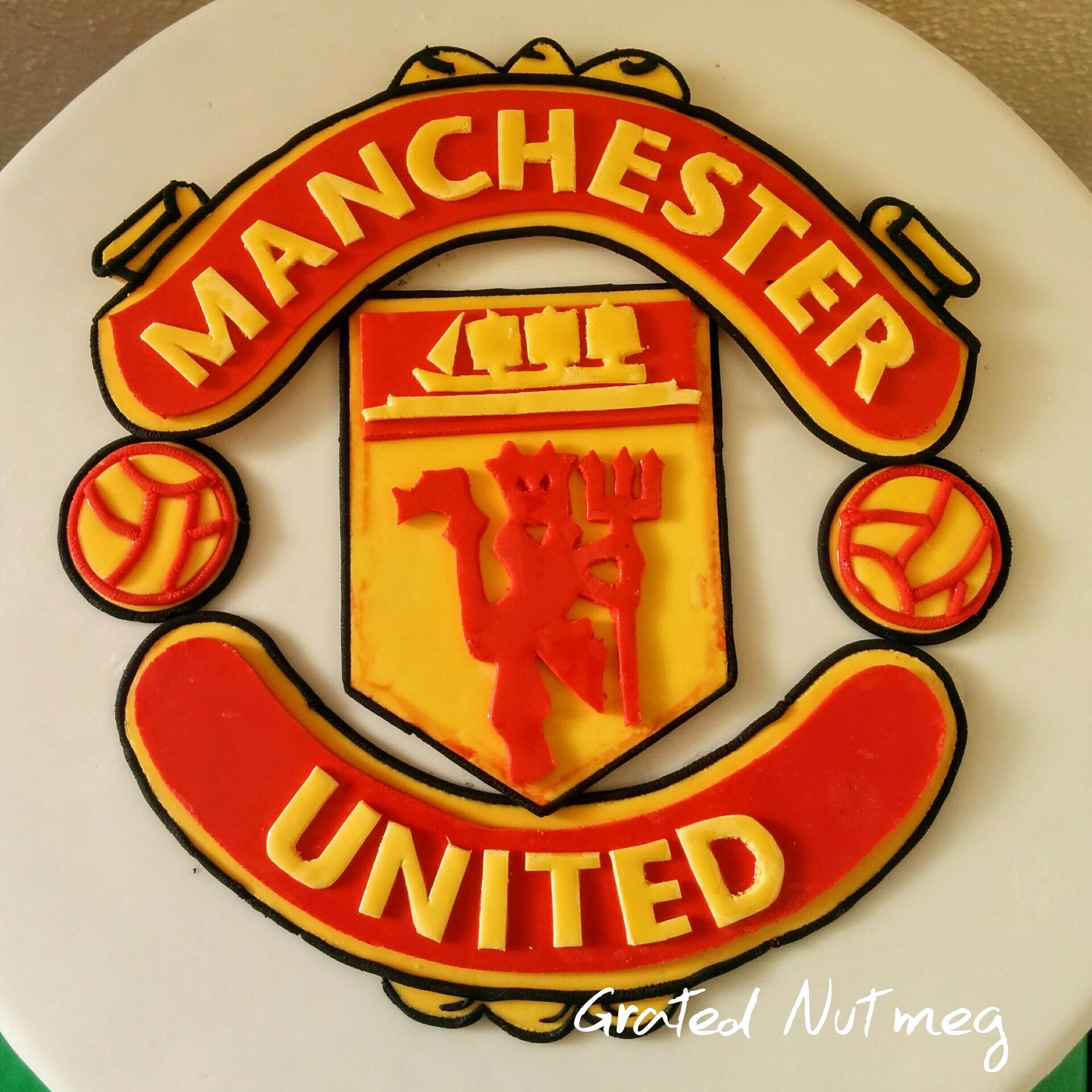 Fondant Manchester United Logo Cake Topper Tutorial Grated Nutmeg
